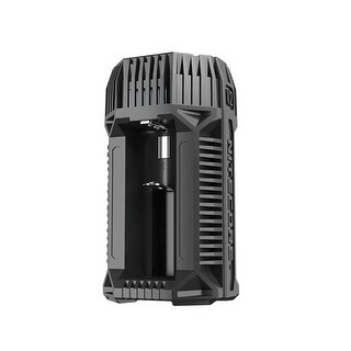 NITECORE V2 6A 2-Channel In-Car Speedy Battery Charger - Black
