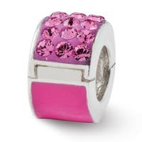 Sterling Silver Reflections Pink Swarovski Elements Bead (4mm Diameter Hole)