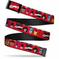 Marvel Comics marvel Comics Logo Black Red White  Chrome Retro Marvel Web Belt