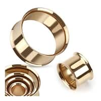 Double Flared Flesh Tunnels Rose Gold IP Over 316L Surgical Steel (Sold Ind.)