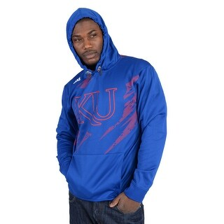 Adidas Mens University of Kansas Fashion Hoodie Royal Blue - Royal Blue/Red