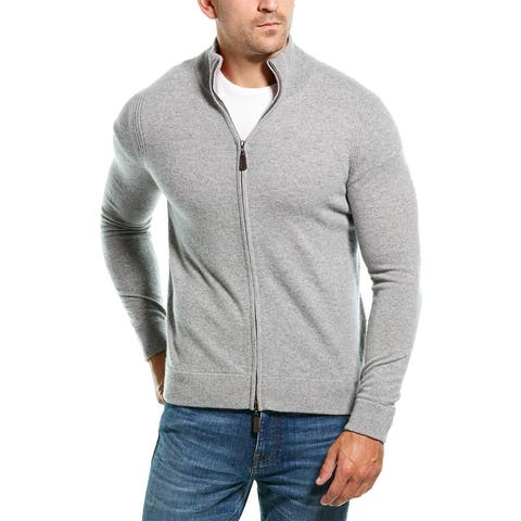 Amicale Cashmere Mock Neck Cashmere Jacket