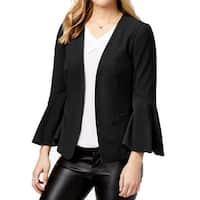Kensie Black Women's Size Large L Bell-Sleeve Open-Front Jacket