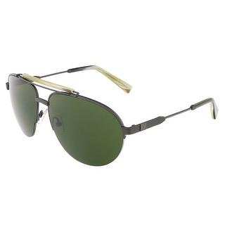 Ermenegildo Zegna EZ0007/S 09N Gunmetal/Green & Cream Gradient Sunglasses - gunmetal/green & cream gradient - 60-15-140