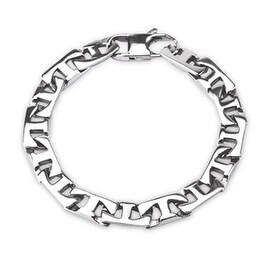 316L Steel Cast Flat T - Link Bracelet (8.7 mm) - 8.75 in