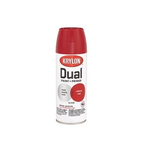 Krylon K08805000 Dual Paint & Primer One Spray Paint, 12 Oz, Cherry Red