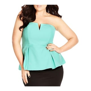 City Chic Womens Plus Corset Top Strapless Deep V (4 options available)