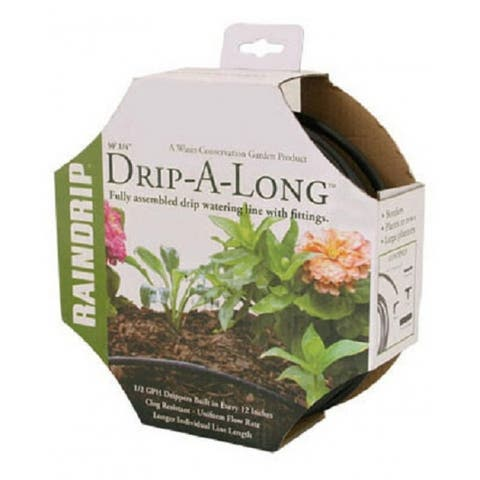 "Raindrip R280DT Drip-A-Long Soaker Irrigation System, 1/4"" x 50'"