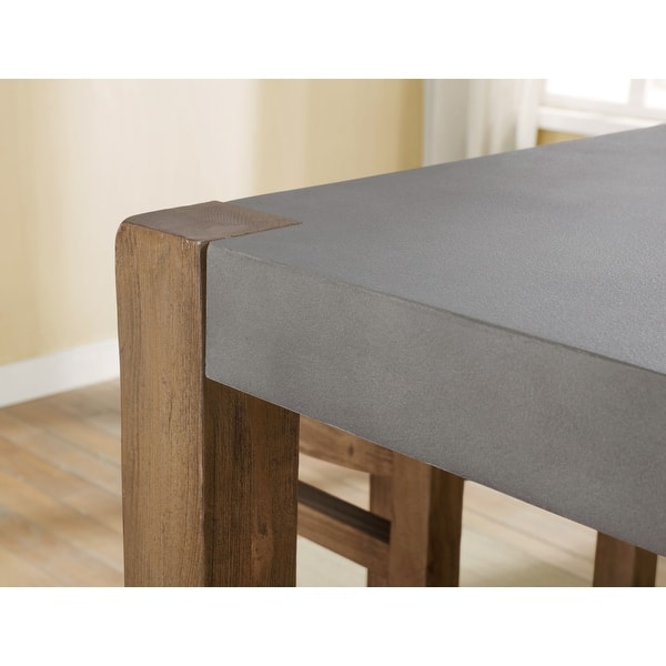The Gray Barn Enchanted Acre Faux Concrete And Wood Counter Height Dining Table Brown Overstock 31299651