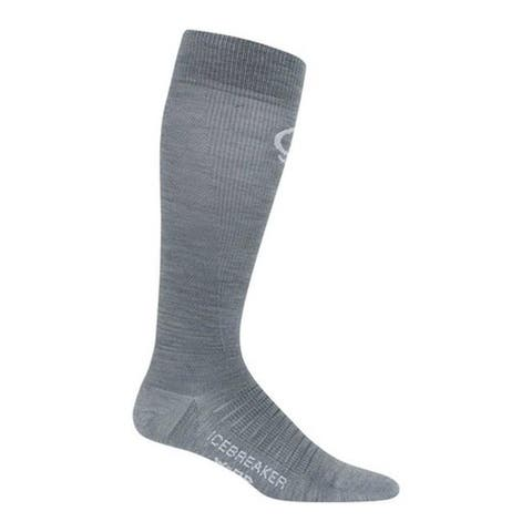 Icebreaker Women's Ski + Compression Ultra Light OTC Crewe Sock Twister Heather/Monsoon