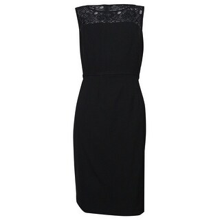 Calvin Klein Women's Illusion Lace Sheath Solid Dress - 10