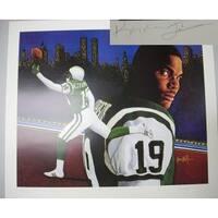 Keyshawn Johnson signed New York Jets Lithograph