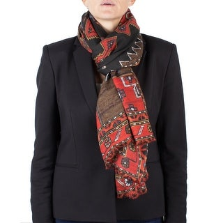 Givenchy Women's Native American Pattern Virgin Wool Scarf Large