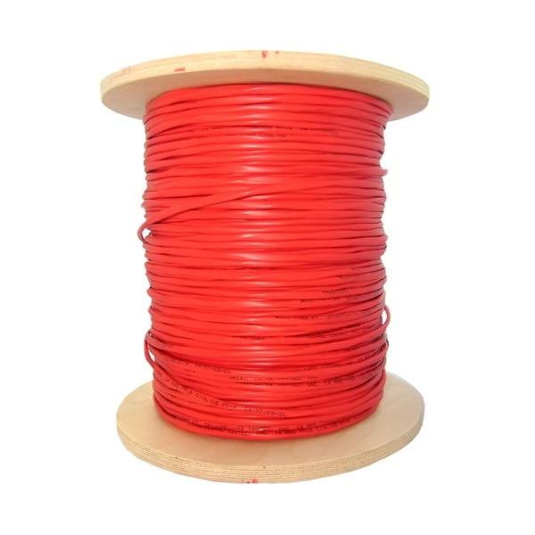 Offex Bulk Zipcord Fiber Optic Cable, Multimode, Duplex, 62.5/125, Orange, Riser Rated, Spool, 1000 foot