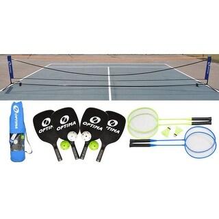 Optima Complete Pickleball, Badminton Portable Net Starter Set