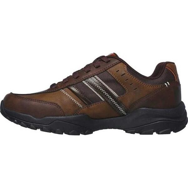 Shop Skechers Men's Relaxed Fit Henrick Delwood Sneaker Dark