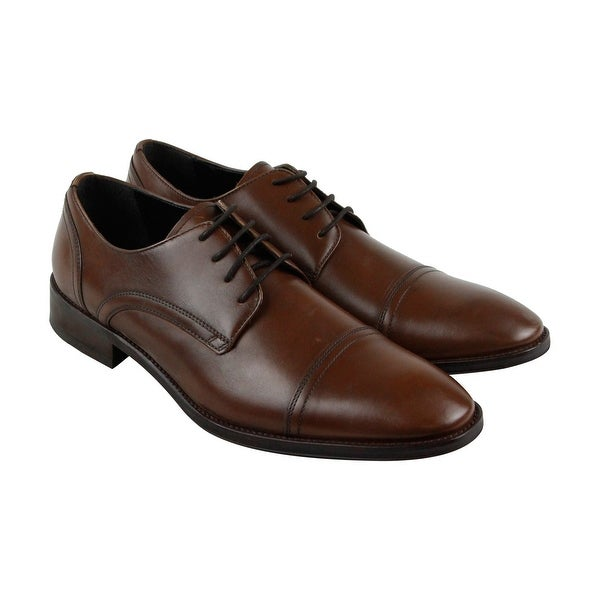 Kenneth Cole New York Gather Around Mens Brown Casual Dress Oxfords Shoes