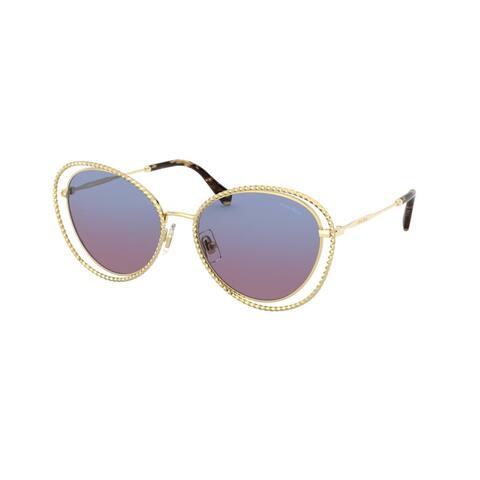 Miu Miu MU 59VS 5AK08B 54 Gold Woman Butterfly Sunglasses
