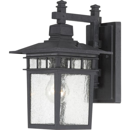 Nuvo Lighting 60/4953 Cove Neck Single-Light Hanging Lantern with Clear Seed Glass Panels