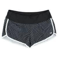 New Balance Womens Printed Running Shorts Black - BLACK/WHITE - XL