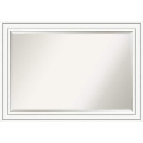 Wall Mirror, Craftsman White Wood