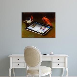 Easy Art Prints Lucia Heffernan's 'Angry Birds' Premium Canvas Art