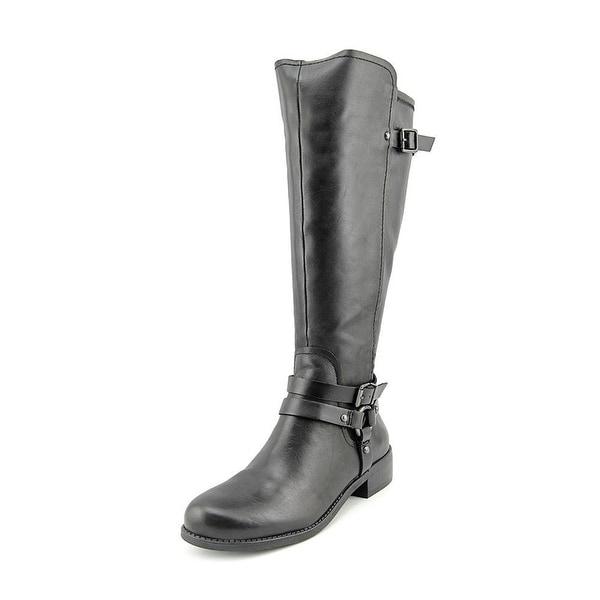 BCBGeneration Kurt Round Toe Leather Mid Calf Boot - 6