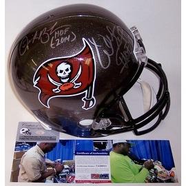 Derrick Brooks & Warren Sapp Autographed Hand Signed Tampa Bay Buccaneers Throwback Full Size Helmet - PSA/DNA