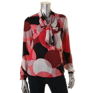 Nine West Womens Long Sleeves Pattern Pullover Top