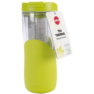 Copco Tea Thermal With Removable Infuser - Double Wall Insulated Tumbler 14 Oz - Green