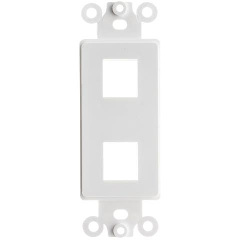Offex Decora Wall Plate Insert, White, 2 Hole for Keystone Jack