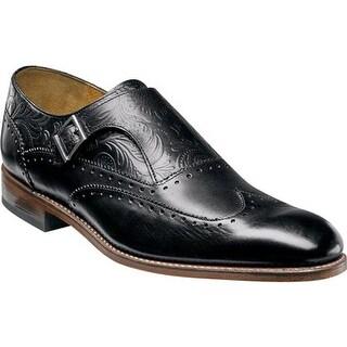 Stacy Adams Men's Madison II Monk Strap Wingtip 00074 Black Leather