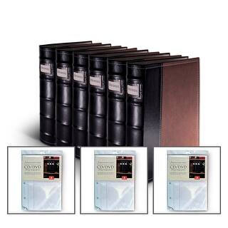 Bellagio-Italia Brown Leather CD/DVD Binder 6 pack with 24 Bonus Insert Sheets|https://ak1.ostkcdn.com/images/products/is/images/direct/74c24febafd352bbdd8b8edb7d27e320733243ee/Bellagio-Italia-Brown-Leather-CD-DVD-Binder-6-pack-with-24-Bonus-Insert-Sheets.jpg?impolicy=medium