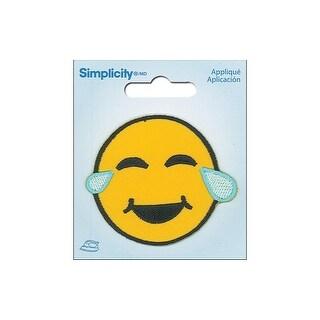 Simplicity Applique Iron On Crying Emoji