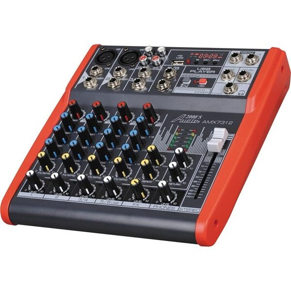 Professional Six-Channel Audio Mixer With USB and DSP Processor