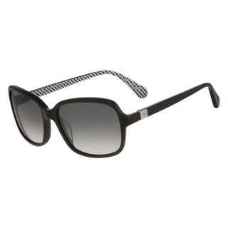 Diane Von Furstenberg Womens Kristen Square Sunglasses Oversized UV Protection - Black - o/s