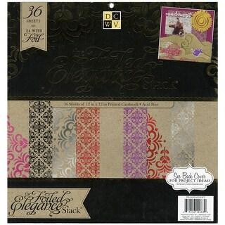 "DCWV Paper Stack 12""X12"" 48/Pkg-Elegance, 24 Designs/2 Each"