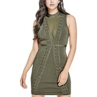 Guess Womens Cocktail Dress Sleeveless Knee-Length