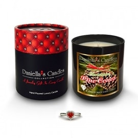 Christmas Pine Cones Jewelry Surprise Candle