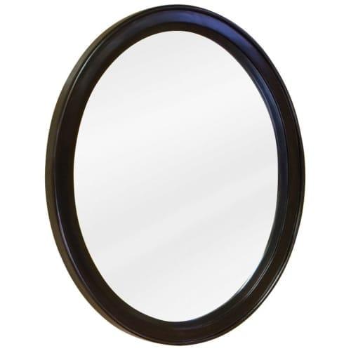 Jeffrey Alexander MIR056 Demi-Lune Collection Oval 22 x 27-1/2 Inch Bathroom Vanity Mirror