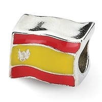 Sterling Silver Reflections Spanish Flag Bead (4mm Diameter Hole)