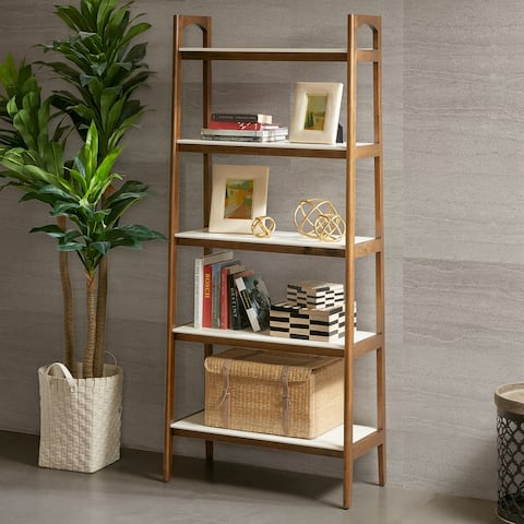 Madison Park Avalon Off-white and Pecan Bookcase