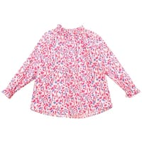 Richie House Girls' Floral Print Top