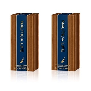 Nautica Life, Eau De Toilette Spray, 3.3 Oz (2 Pack)