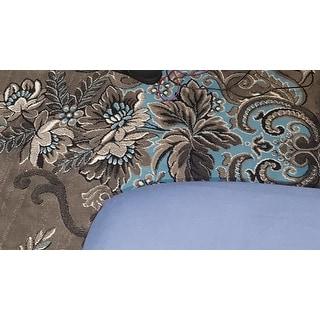 "Blue AllStar Modern. Contemporary Woven Area Rug. Drop-Stitch Weave Technique. Carved Effect. Vivid Pop Colors (5' x 6' 11"")"