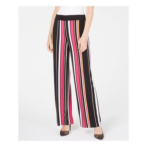 INC Womens Black Striped Wide Leg Pants Size M