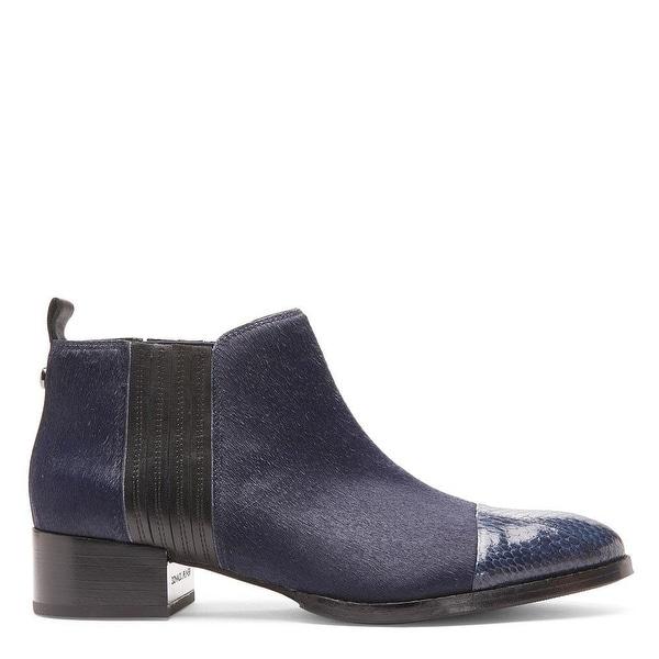 Donald J Pliner Womens Alie Leather Cap Toe Ankle Chelsea Boots