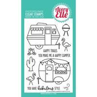 "Avery Elle Clear Stamp Set 4""X6""-Glamper Campers"