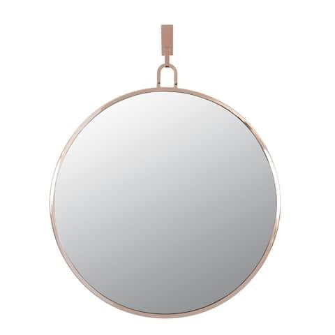 Varaluz Stopwatch 30-inch Brushed Nickel Round Accent Mirror