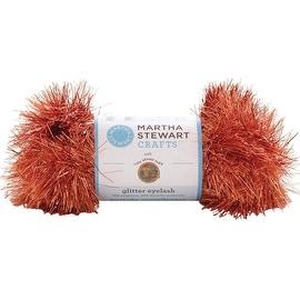 Lion Brand Yarn 5800-533 Martha Stewart Glitter Eyelash Yarn, Orange Topaz